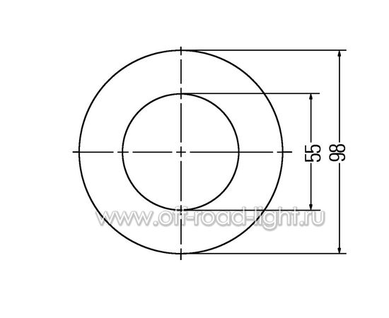 Декоративное кольцо, катафот. D55мм/98мм фото-2