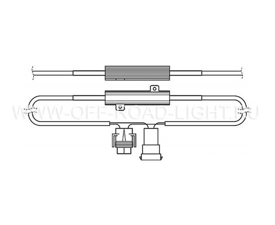Резистор (обманка) OSRAM LEDCBCTRL103, 5W, фото , изображение 2