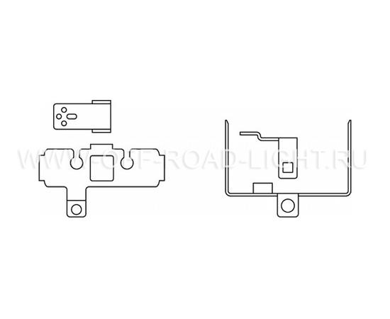 Набор для установки фар OSRAM LEDFOG101 INF MOUNT, Infiniti, фото , изображение 2