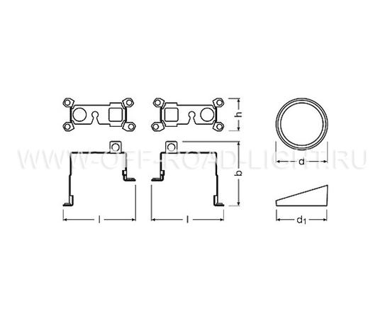 Набор для установки фар OSRAM LEDFOG101 TY MOUNT, Toyota, фото , изображение 2