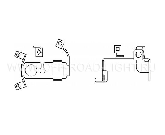 Набор для установки фар OSRAM LEDFOG101 VW MOUNT, Volkswagen, фото , изображение 2