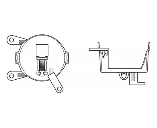 Набор для установки фар OSRAM LEDFOG 103/201 VW MOUNT, Volkswagen, фото , изображение 2