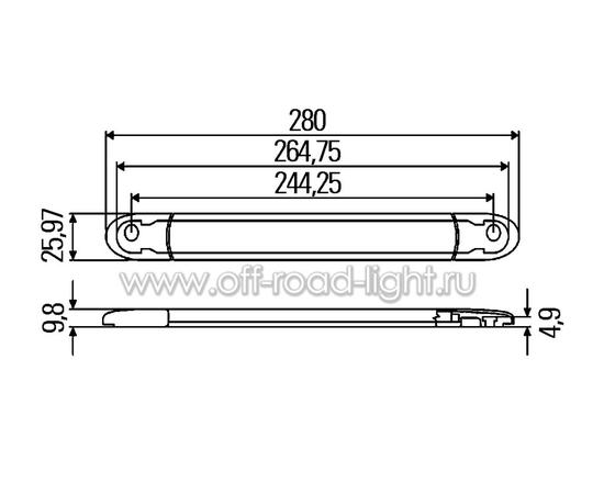 Стоп сигнал для внешней установки, серый (10 LED) 12V фото-7
