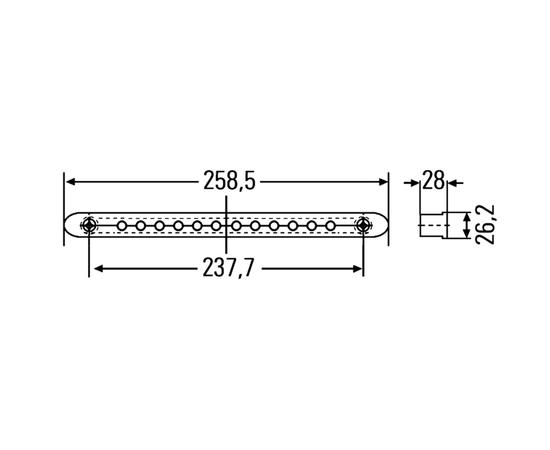 Дополнительный стоп-сигнал LED 12В фото-2