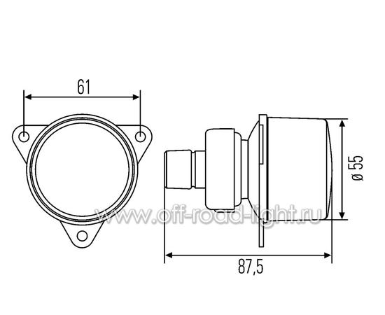 Задний стоп сигнал с лампой P21W 12V, фото , изображение 2