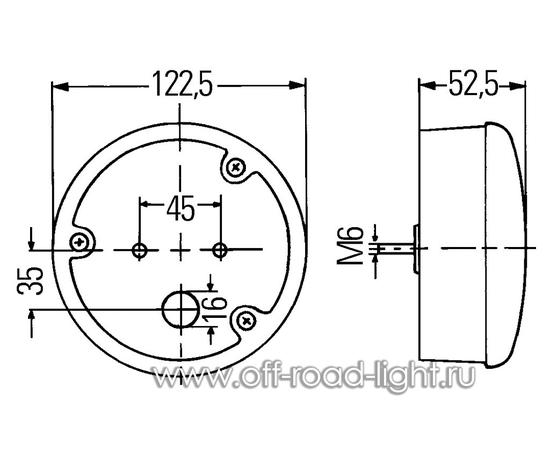 Фонарь задний противотуманный (37-LED) 24V фото-2