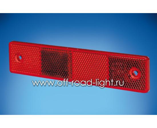 Отражатель красный 180x40, фото-
