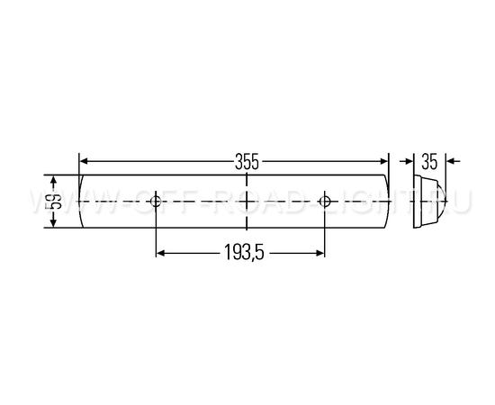 Светильник светодиодный накладной 24LED с выключателем, фото , изображение 2