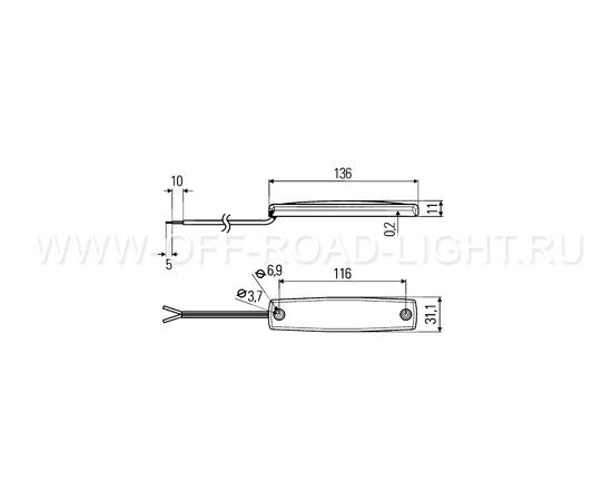 Подсветка подножек Hella MiniThin Light 12В, фото , изображение 2