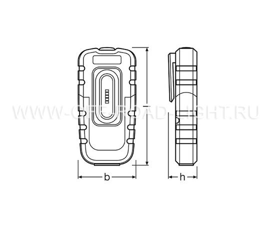 Фонарь светодиодный инспекционный OSRAM LEDinspect Pocket 160, 0.5W, фото , изображение 2