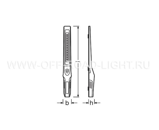 Фонарь светодиодный инспекционный OSRAM LEDinspect Slimline 250, 3W, фото , изображение 2