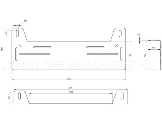 Рамка для дополнительных фар под номер, фото , изображение 5