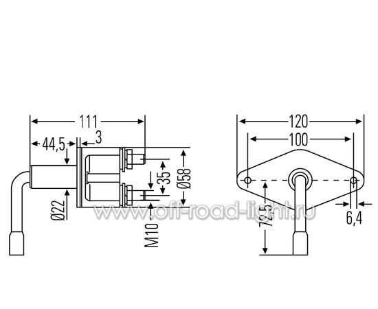 Выключатель АКБ 100A, Max:2500A, IPX53, фото , изображение 2
