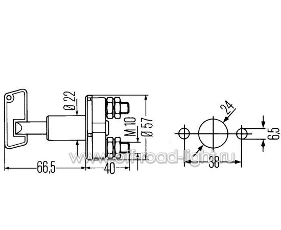 Выключатель АКБ 50A, Max:2000A, IPX2, фото , изображение 2