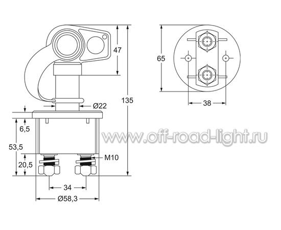 Выключатель АКБ 250A, Max:2000A, IP69K, фото , изображение 2