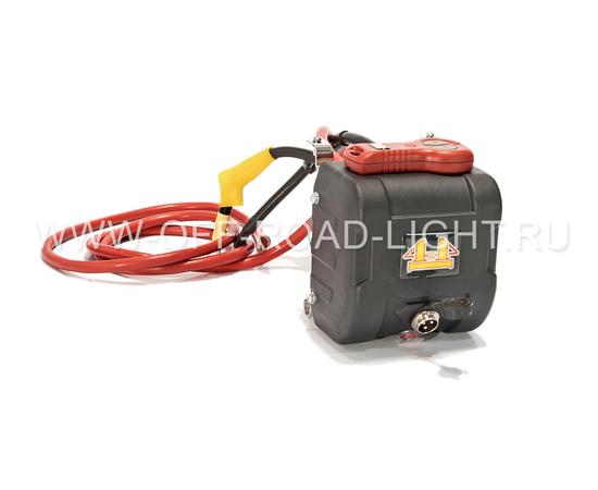 Лебедка автомобильная электрическая 4x4 с металлическим тросом, фото , изображение 2
