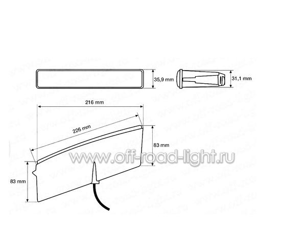 Светодиодная фара дневного освещения LEDayLine, 12V, левая, фото , изображение 2
