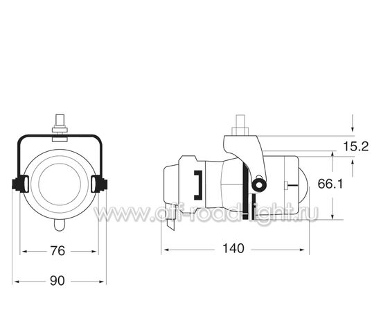 Micro DE, Рабочий свет, Галоген (H3) 12V, фото , изображение 3